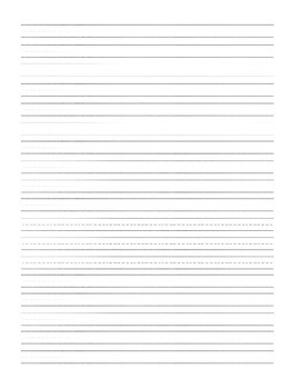 Primary line writing paper