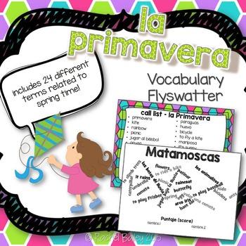 Primavera Matamoscas Game - Spring Vocabulary Flyswatter