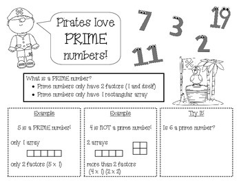 Prime & Composite Numbers Scaffolded Notes