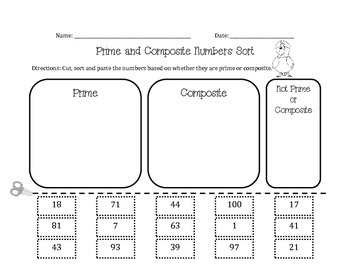 Prime & Composite Numbers Sort