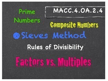 Prime & Composite Numbers -The Sieves Method