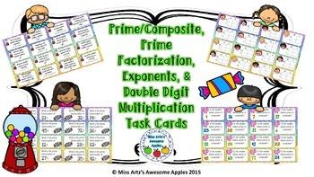 Prime/Composite, Prime Factorization, Exponents, & Multipl