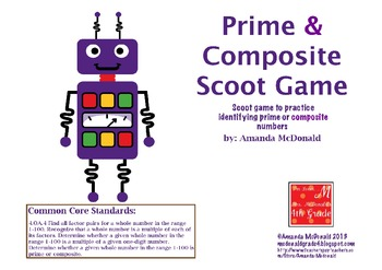 Prime & Composite Scoot Game