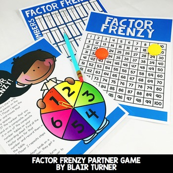 Prime, Composite, and Factor Pairs Game: 4th Grade Math Ce