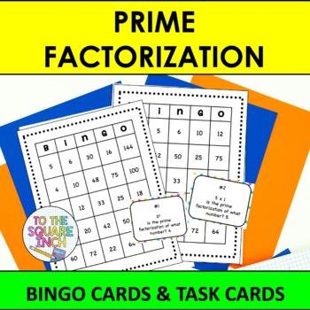 Prime Factorization Bingo