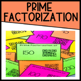 Prime Factorization Task Cards with QR Codes