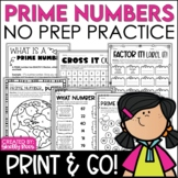 Prime and Composite Numbers - Print and Go!