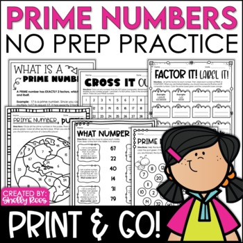Prime Number Practice - Print and Go!