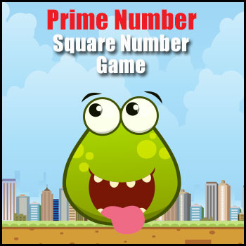Prime Number & Square Numbers Math Game - Exploring Number