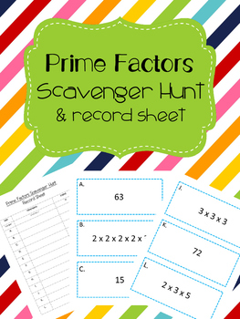 Prime Factors Scavenger Hunt