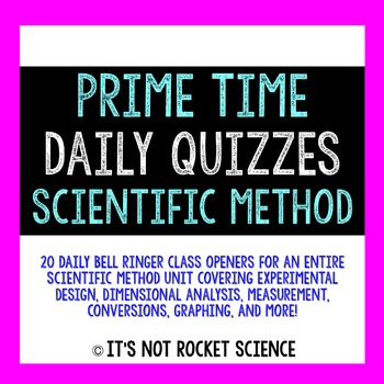 Physical Science Daily Bell Ringers/Exit Slips - Scientifi