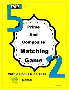 Prime and Composite Matching and Dice Games