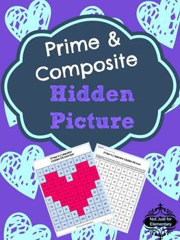Prime and Composite Number Hidden Heart Picture