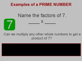 Prime and Composite Numbers Lesson, Flipchart
