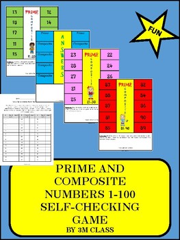 Prime and Composite Self Checking Game and Center