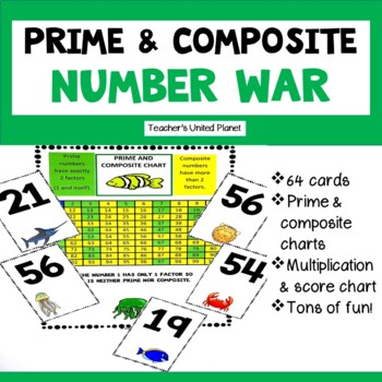 Prime or Composite Games - War and Anchor Charts