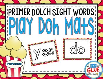 Play Doh Mats: Primer Dolch {Popcorn}