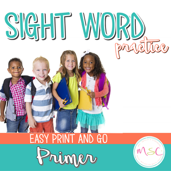 Dolch Sight Word Practice Primer