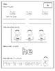 Primer Dolch Sight Word Worksheets