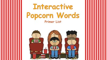 Primer Interactive Popcorn Words