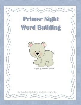 Primer Sight Word Building