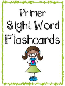 Primer Sight Word Flashcards