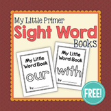 Primer Sight Word Little Book FREEBIE: with, our Interacti