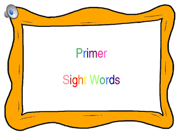 Primer Sight Word Powerpoint {with Music}