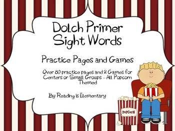 Primer Sight Word Practice Pages (over 80!) and Games - CC