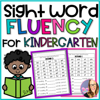 Primer Sight Word Fluency Practice Sheets
