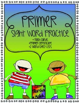 Primer Word Practice (S.Malek)