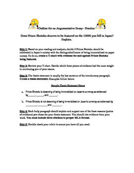 Prince Shotoku Argumentative Writing Guide