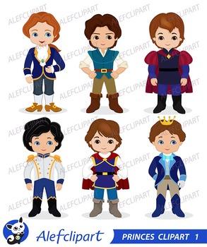 Princes Digital Clipart / Fairytale Princes, Cute Princes