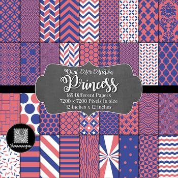 Princess Digital Paper Collection 12x12 600dpi