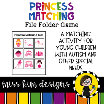 Princess Matching Folder Game for students with Autism