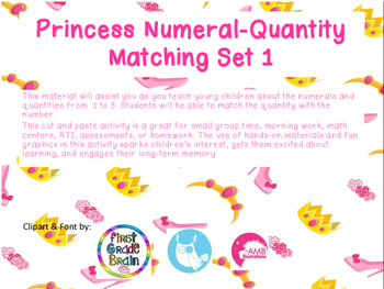 Princess Numeral-Quantity Matching
