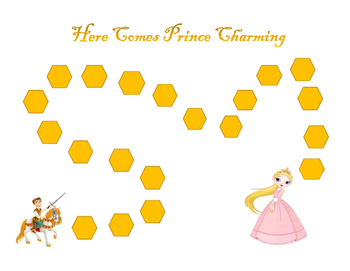 Princess, Prince Charming Motivational Game Boards: 10 or