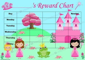 Princess Reward Chart