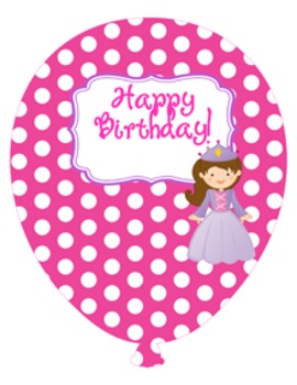 Princess and Knight Birthday Balloons Custom Request