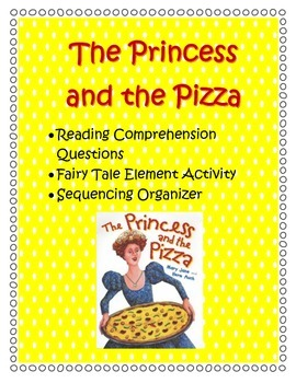 Princess & the Pizza- Comprehension, Sequencing & Activity