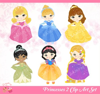 Princesses 2 Clip Art Set