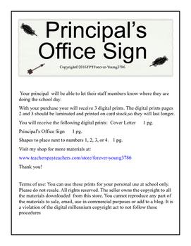 Principal's Office Sign!