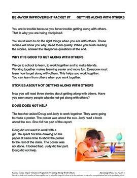 Principal's Resource: 2nd Grade Behavior Improvement: Cooperate