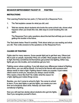 Principal's Resource: 4th Grade Behavior Improvement: Fighting