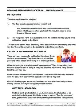 Principal's Resource: 4th Grade Behavior Improvement: Good