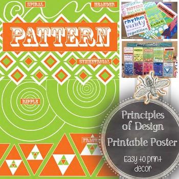 Principle of Design, Pattern, Printable Poster: Art Educat