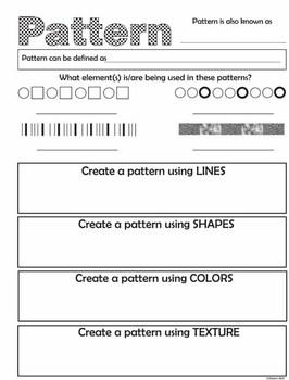 Principles of Art (Design) Worksheets (USA color)