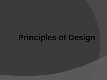 Principles of Art PowerPoint Presentation