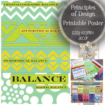 Principles of Design (Balance) Printable Poster: Art Educa