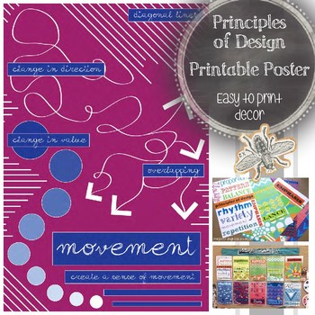 Principles of Design (Movement): Printable Art Poster, Cla